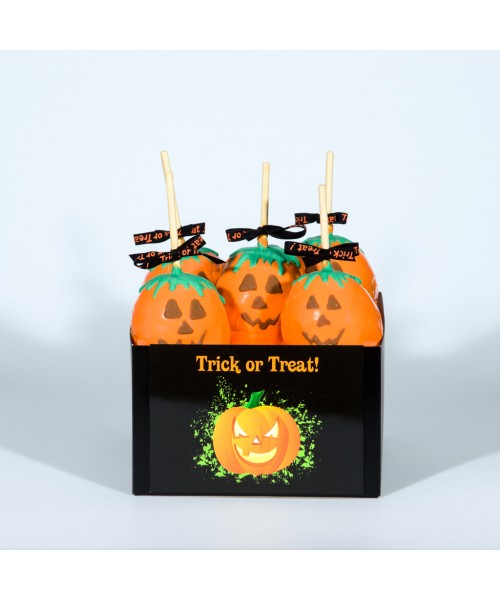 Trick or Treat Candy Apple Halloween Gift Basket