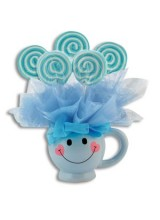 BABY LOLLILOONS™ SMILEY MUG BOUQUET - BOY