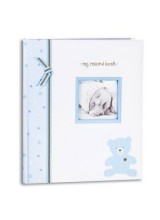 10¾ INCH BABY RECORD BOOK - BLUE BEAR
