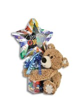 GRADUATION TENDER TEDDY BEAR KELLILOONS - HARD CANDY