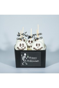 Skeleton Candy Apple Halloween Gift Basket